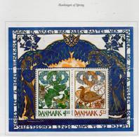PIA - DANIMARCA -1999 : Messaggeri Della Primavera - Uccelli - (Yv  Bf 13 ) - Blocchi & Foglietti