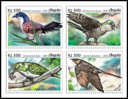 ANGOLA 2018 MNH Cuckoos Kuckuck Coucous 4v - IMPERFORATED - DH1906 - Coucous, Touracos