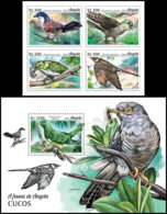 ANGOLA 2018 MNH Cuckoos Kuckuck Coucous 4v+S/S - IMPERFORATED - DH1906 - Coucous, Touracos
