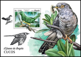 ANGOLA 2018 MNH Cuckoos Kuckuck Coucous S/S - IMPERFORATED - DH1906 - Coucous, Touracos