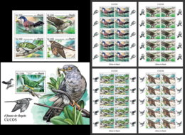 ANGOLA 2018 MNH Cuckoos Kuckuck Coucous 4v+S/S+M/S - IMPERFORATED - DH1906 - Coucous, Touracos