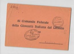 15397 01 UFFICIO POSTALE ROMA COMANDO GIL GIOVENTU ITALIANA LITTORIO X NAPOLI - 1900-44 Vittorio Emanuele III