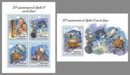 CENTRAL AFRICA 2019 MNH Apollo 11 Space Raumfahrt Espace M/S+S/S - OFFICIAL ISSUE - DH1906 - Space