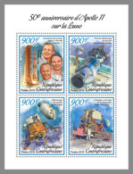 CENTRAL AFRICA 2019 MNH Apollo 11 Space Raumfahrt Espace M/S - OFFICIAL ISSUE - DH1906 - Space