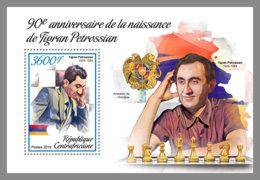 CENTRAL AFRICA 2019 MNH Tigran Petrossian Chess Schach Echecs S/S - OFFICIAL ISSUE - DH1906 - Schaken