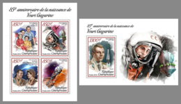 CENTRAL AFRICA 2019 MNH Yuri Gagarin Space Raumfahrt Espace M/S+S/S - IMPERFORATED - DH1906 - Space