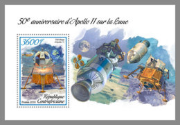 CENTRAL AFRICA 2019 MNH Apollo 11 Space Raumfahrt Espace S/S - IMPERFORATED - DH1906 - Space