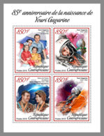CENTRAL AFRICA 2019 MNH Yuri Gagarin Space Raumfahrt Espace M/S - IMPERFORATED - DH1906 - Space