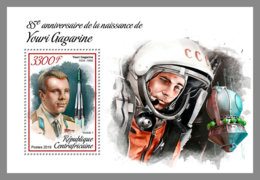 CENTRAL AFRICA 2019 MNH Yuri Gagarin Space Raumfahrt Espace S/S - IMPERFORATED - DH1906 - Space