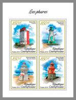 CENTRAL AFRICA 2019 MNH Lighthouses Leuchttürme Phares M/S - IMPERFORATED - DH1906 - Phares