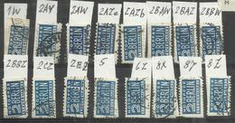 """Allierte Besetzungen Bizone  16 Zwangszuschlagsmarken 1-8 """" Notopferabgabe Berlin"""" Gestempelt Mi.:27,95 - Zone Anglo-Américaine"""