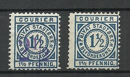 GERMANY O 1890 Privater Stadtpost Local City Post With And Witout OPT - Poste Privée