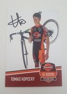 Cp Carte 2018 2019 Tomas Kopecky Pauwels Sauzen Signé - Cyclisme