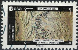 France 2018 Oblitéré Used Thomas Pesquet Champs Irrigués Et Reliefs En Arabie Saoudite Y&T 1576 - France
