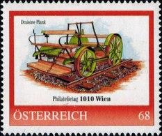 Philatelietag 1010 Wien Draisine Plank, Pers.BM, Bogennummer 8116870** - Österreich