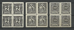 Germany Ca 1890 LEIPZIG Privater Stadtpost City Post Private Local Post 3 X 4-Block MNH - Poste Privée