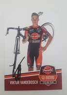 Cp Carte 2018 2019 Viktor Vandebosch Pauwels Sauzen Signé Cyclisme Cycling - Cyclisme