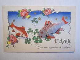 Fêtes 1 Er Avril Poisson Collage Nous Vous Apportons Le Bonheur - 1er Avril - Poisson D'avril