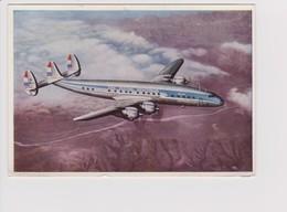 Vintage Rppc KLM K.L.M Royal Dutch Airlines Lockheed Constellation L-1049 Aircraft - 1919-1938: Entre Guerres