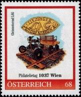 Philatelietag 1037 Wien Gleismotorrad , Pers.BM, Bogennummer 8118034** - Österreich