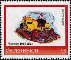Philatelietag 1040 Wien Draisine X712.516, Pers.BM, Bogennummer 8118412** - Österreich