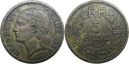 France - GPRF - 5 Francs 1945 Lavrillier, Bronze-aluminium - France
