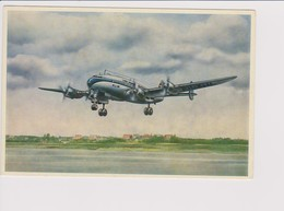 Vintage Rppc KLM K.L.M Royal Dutch Airlines Lockheed Constellation L-749 Aircraft @ Schiphol Airport - 1919-1938: Entre Guerres