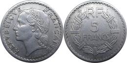 France - GPRF - 5 Francs 1946 B Lavrillier, Aluminium - France