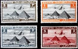 1933 Egypte Poste Aérienne 4 Valeurs  Neufs Traces Charnières - Poste Aérienne