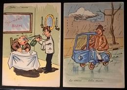 2 CARTOLINE UMORISTICHE - Humor