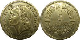 France - GPRF - 5 Francs 1946 Lavrillier, Bronze-aluminium - France