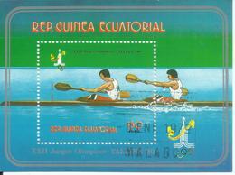 """Äquatorialguinea Block 287 """"XXII Sommerolympiade Moskau '80, Kanu In Tallin"""", Gestempelt, Mi.:1,10 - Guinée Equatoriale"""