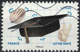 France 2018 Oblitéré Used Emoji Les Messagers De Vos Émotions Bravo Pour Un Diplôme - France