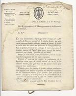 Circulaire N°1599 (an 7) Avec 2 Bons Au Porteur De 25 Frs (accrochés à L'intérieur) - Decrees & Laws