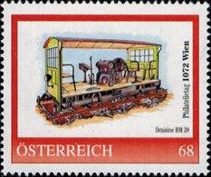 Philatelietag 1072 Wien Draisine Daimler BM 20, Pers.BM, Bogennummer 8119368** - Österreich