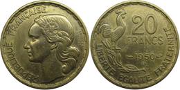 France - Quatrième République - 20 Francs 1950 B 3 Plumes Georges Guiraud - France