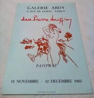 AFFICHE ANCIENNE ORIGINALE EXPOSITION JP JOUFFROY PASIPHAË 1960 Galerie Abdy Paris 8è - Affiches