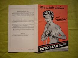 1 Dépliant Pub  Matériel Médical Roto Star Pour Masser Les Seins - Advertising