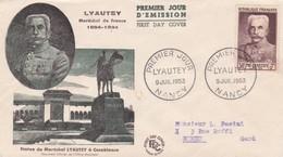 LOT DE 14 PREMIER JOUR D'EMISSION DE FRANCE DE 1953 . - FDC