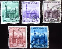 Egypte Mosquée Du Sultan Hussein 5 Valeurs  Oblitérés - Oblitérés