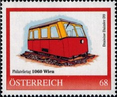 Philatelietag 1060 Wien Draisine Daimler D 9, Pers.BM, Bogennummer 8119001** - Österreich