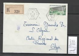 Algerie - Lettre Recommandée - Cachet Hexagonal VICTOR DURUY  SAS - Marcophilie - Algérie (1924-1962)