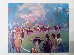 AFFICHE ANCIENNE ORIGINALE EXPOSITION Roger BOHNENBLUST 1968 Galerie Vendome Paris Rue De La Paix - Style Raoul Dufy - Affiches