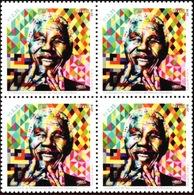 BRAZIL 2018  -  NELSON MANDELA - BIRTH CENTENARY   - Blk Of 4   MINT - Unused Stamps