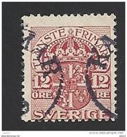 Schweden, Dienstpost, 1911, Michel-Nr. 38, Gestempelt - Servizio