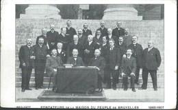 CPA Fondateurs De La Maison Du Peuple De BRUXELLES  1882-1907 - Beroemde Personen