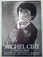 AFFICHE ANCIENNE ORIGINALE EXPOSITION Michel CIRY Gravures Fondation Taylor Paris 9è - Affiches