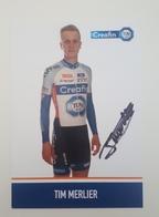 Cp Carte 2018 2019 Tim Merlier Cyclo Cross Signé Cyclisme Cycling - Cyclisme