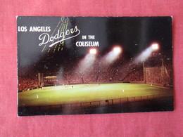 Baseball Night Game Loa Angels Dodgers In The  Coliseum ---------------- Ref 3168 - Baseball
