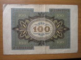· Billet, Allemagne, 100 Mark  -  Ft: 16 X 10,5 Cm - 1920, - [ 3] 1918-1933 : République De Weimar